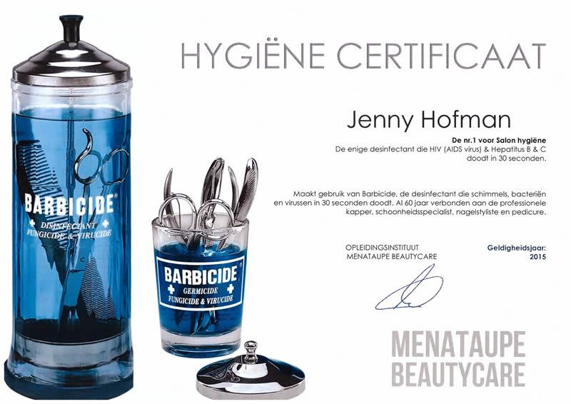 hygiene certificaat nagelstudio gasselte